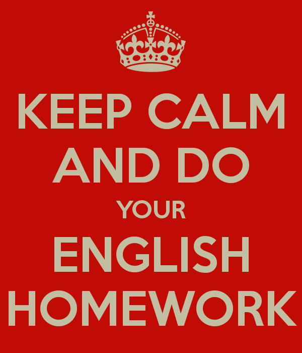 Do english homework